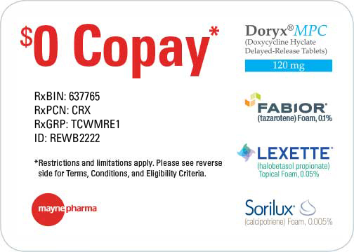 Click To Download Mayne Pharma $0 Copay Patient Savings Card