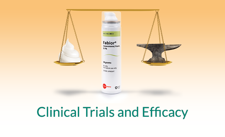 Clinical trials and efficacy of Fabior foam