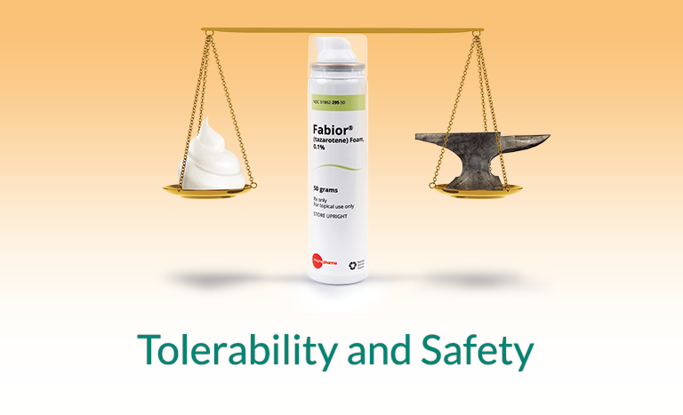 Tolerability and safety of Fabior foam